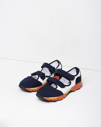 Marni Mixed Media Sneaker Eclipse And Natural