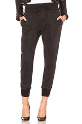 James Perse Contrast Sweatpant Black