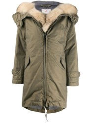 Peuterey Feather Down Coat Green