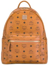 Mcm 'Stark' Small Backpack Brown