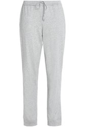 Skin Pima Cotton Jersey Track Pants Light Gray