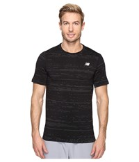 New Balance Max Speed Short Sleeve Top Black Men's Short Sleeve Pullover