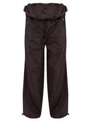 Y Project Double Waist Shell Track Pants Black