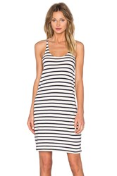 Nlst Striped Tank Dress Navy