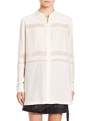 Public School Meavan Silk Blouse Off White