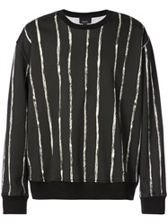 3.1 Phillip Lim Painted Stripe Sweatshirt Black