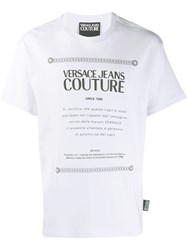 Versace Jeans Couture Logo T Shirt White