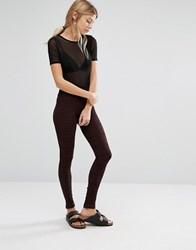 Y.A.S Cosa Legging Winetasting Red