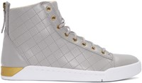 Diesel Grey Diamond High Top Sneakers