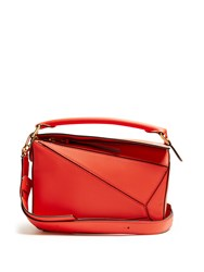 Loewe Puzzle Small Leather Cross Body Bag Red