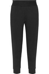 Adidas By Stella Mccartney Essentials French Cotton Blend Terry Track Pants Black