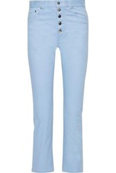 Joseph Woman Den High Rise Slim Leg Jeans Light Blue
