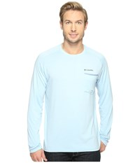 Columbia Sol Resist Long Sleeve Shirt Oxygen Steel Men's Long Sleeve Pullover Blue