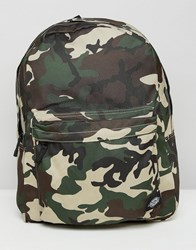 Dickies Indianapolis Backpack In Camo Green