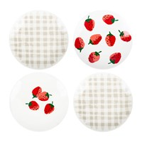 Kate Spade Strawberries Tidbit Plates Set Of 4