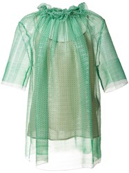 Stella Mccartney Ruched Blouse Green