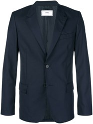 Ami Alexandre Mattiussi Lined Two Buttons Jacket Blue