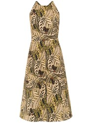Andrea Marques Printed Sleeveless Dress Nude And Neutrals