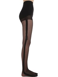 Chantal Thomass Collant Resille Noeud Tights Black