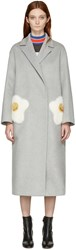 Anya Hindmarch Grey Oversized Eggs Coat