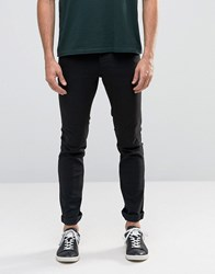 Solid Jeans In Skinny Fit Black Denim With Stretch Black