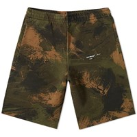 Off White Paintbrush Sweat Short Green