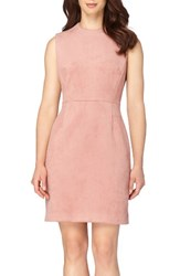 Tahari Petite Women's Faux Suede Sheath Dress