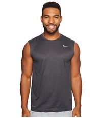 Nike Legend 2.0 Sleeveless Tee Black Anthracite Heather Matte Silver Men's T Shirt