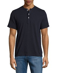 Brooks Brothers Knit Henley Tee Navy