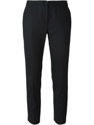 Erika Cavallini Semi Couture Slim Fit Cropped Trousers Blue