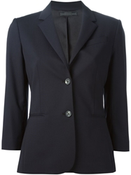 The Row 'Schoolboy' Three Quarter Length Sleeve Blazer Blue
