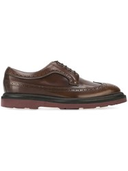 Paul Smith Ridged Sole Brogue Shoes Brown