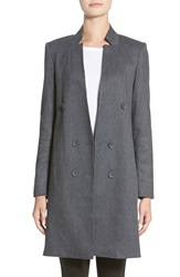 James Jeans Double Breasted Coat Car Coat Charcoal Flannel