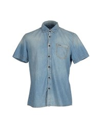 Bikkembergs Denim Denim Shirts Men