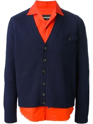 Dsquared2 Layered Cardigan And Shirt Blue