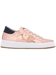 Philippe Model Low Top Sneakers Women Leather Patent Leather Rubber 39 Nude Neutrals