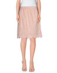 Scee By Twin Set Skirts Mini Skirts Women Light Pink