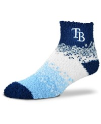 For Bare Feet Tampa Bay Rays Marquee Sleep Soft Socks Navy Blue White