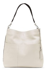 Vince Camuto Risa Leather Hobo Ivory Birch