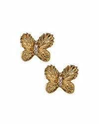 Tai Cz Butterfly Stud Earrings Gold