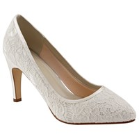 Rainbow Club Alexis Pointed Toe Court Shoes Ivory