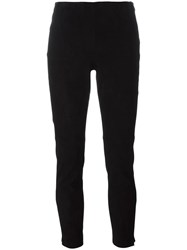 Michael Michael Kors Zipped Cropped Trousers Black