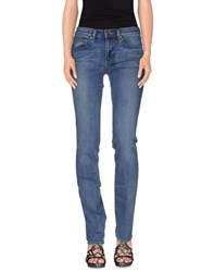 Tory Burch Denim Denim Trousers Women Blue