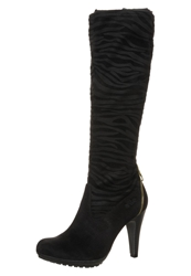 S.Oliver High Heeled Boots Zebra Black