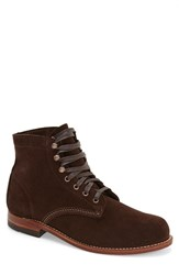 Wolverine Men's '1000 Mile' Plain Toe Boot Brown Suede