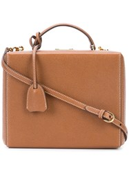 Mark Cross Grace Box Tote Women Leather One Size Brown