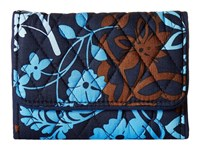 Vera Bradley Riley Compact Wallet Java Floral Wallet Handbags Black