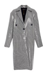 Ellery Casette Sequin Embellished Coat Stripe