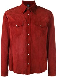 Eleventy Buttoned Shirt Red