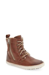 Blackstone 'S 'Cw96' Genuine Shearling Lined Sneaker Boot Bark Leather